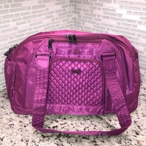 Lug Quilted-Accent Propeller Duffel Bag In Plum
